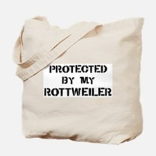 Protected by Rottweiler Tote Bag