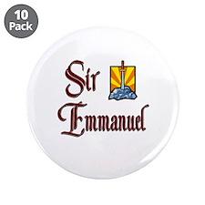 """Sir Emmanuel 3.5"""" Button (10 pack)"""
