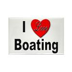 I Love Boating Rectangle Magnet (10 pack)