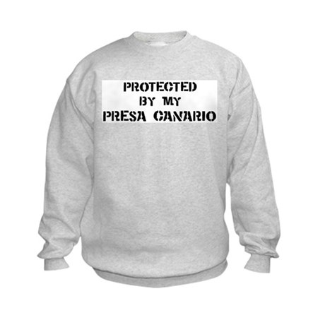 Protected by Presa Canario Kids Sweatshirt