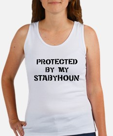 Protected by Stabyhoun Women's Tank Top