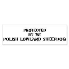 Protected by Polish Lowland S Bumper Bumper Sticker