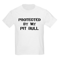 Protected by Pit Bull T-Shirt