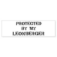 Protected by Leonberger Bumper Bumper Bumper Sticker