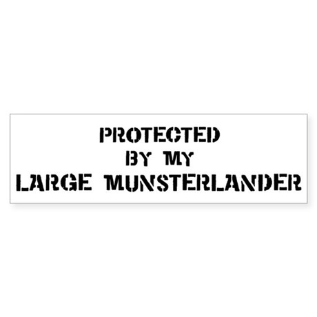 Protected by Large Munsterlan Bumper Sticker