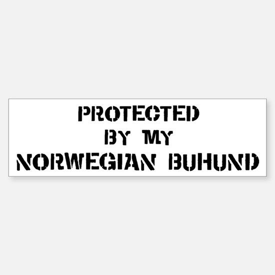 Protected by Norwegian Buhund Bumper Bumper Bumper Sticker