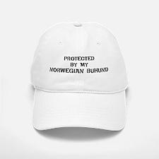 Protected by Norwegian Buhund Baseball Baseball Cap