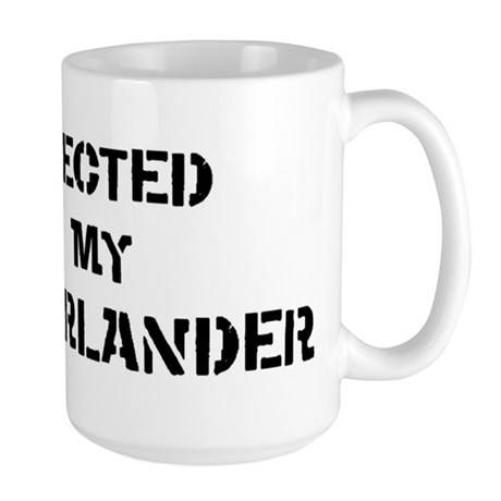 Protected by Munsterlander Large Mug