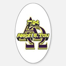 Aleph & Tav Oval Decal