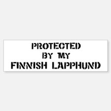Protected by Finnish Lapphund Bumper Bumper Bumper Sticker