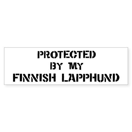 Protected by Finnish Lapphund Bumper Sticker