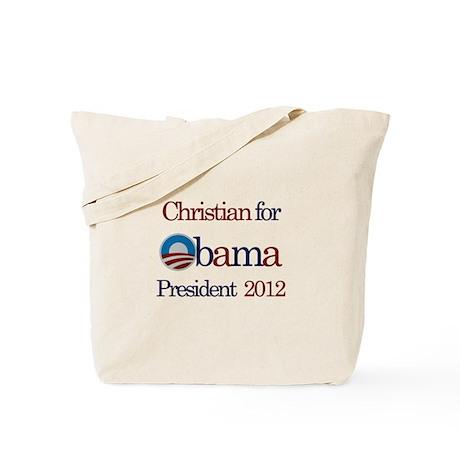 Christian for Obama 2012 Tote Bag