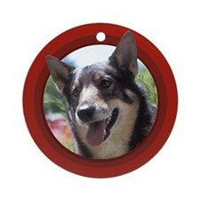 Swedish Vallhund Red Round Ornament