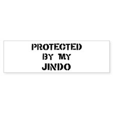 Protected by Jindo Bumper Bumper Sticker