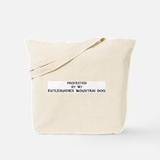 Protected by Entlebucher Moun Tote Bag