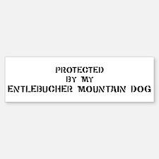 Protected by Entlebucher Moun Bumper Bumper Bumper Sticker