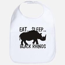 Eat ... Sleep ... BLACK RHINOS Bib