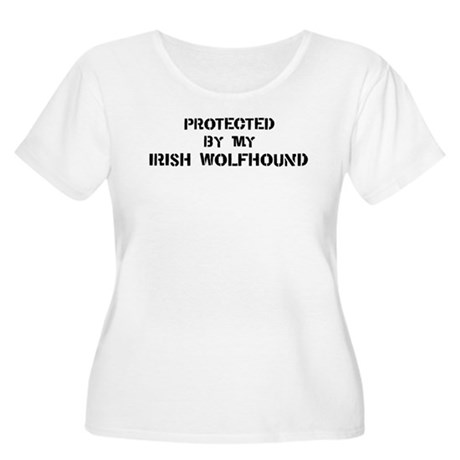 Protected by Irish Wolfhound Women's Plus Size Sco