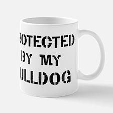 Protected by Bulldog Mug