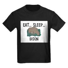 Eat ... Sleep ... BISON Kids Dark T-Shirt