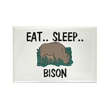 Eat ... Sleep ... BISON Rectangle Magnet
