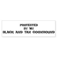 Protected by Black and Tan Co Bumper Bumper Sticker