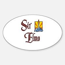 Sir Elmo Oval Decal