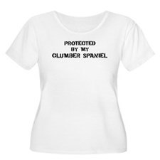 Protected by Clumber Spaniel T-Shirt