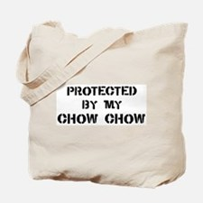 Protected by Chow Chow Tote Bag