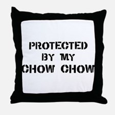 Protected by Chow Chow Throw Pillow