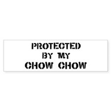 Protected by Chow Chow Bumper Bumper Sticker