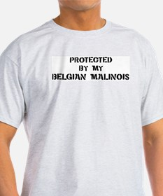 Protected by Belgian Malinois T-Shirt