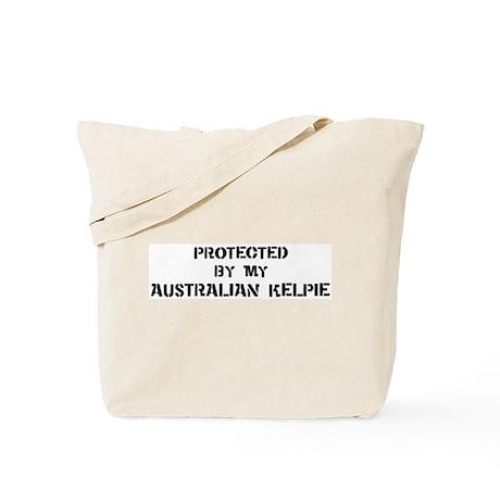 Protected by Australian Kelpi Tote Bag