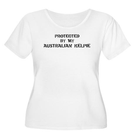 Protected by Australian Kelpi Women's Plus Size Sc