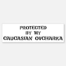 Protected by Caucasian Ovchar Bumper Bumper Bumper Sticker