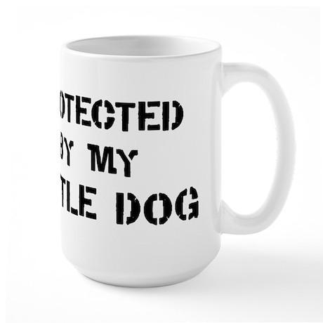 Protected by Cattle Dog Large Mug
