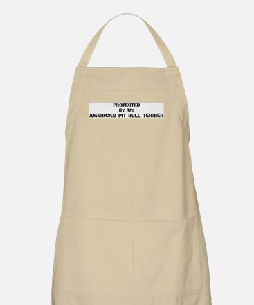 Protected by American Pit Bul BBQ Apron