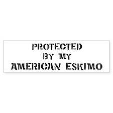 Protected by American Eskimo Bumper Bumper Sticker
