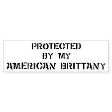 Protected by American Brittan Bumper Bumper Sticker