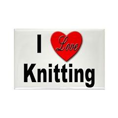 I Love Knitting Rectangle Magnet (10 pack)