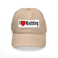 I Love Knitting Baseball Cap