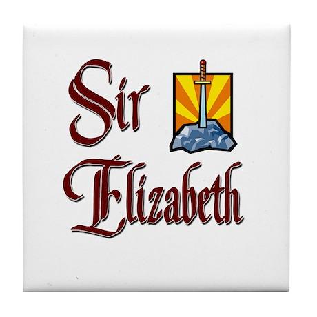 Sir Elizabeth Tile Coaster