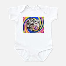 Ferrets Lollipop Swirl Infant Bodysuit