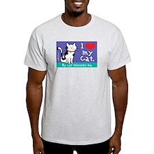 My Cat Tolerates Ash Grey T-Shirt