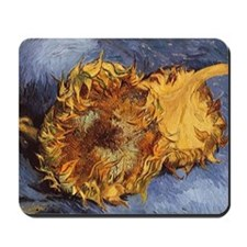 Van Gogh Two Cut Sunflowers Mousepad