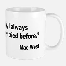 Mae West Two Evils Quote Mug
