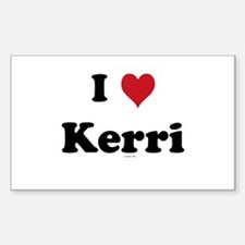 I love Kerri Rectangle Decal