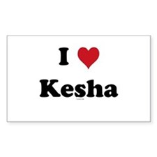 I love Kesha Rectangle Decal