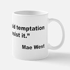 Mae West Temptation Quote Mug
