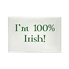 I'm 100% Irish Rectangle Magnet